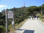 Ο «δρόμος των νερών» στην ανατολική πλευρά του πάρκου της Collserola