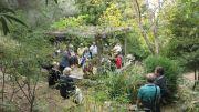 Λίγα λόγια για την ιστορία του κήπου στο στέγαστρο δίπλα στην μικρή λίμνη.