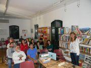 Η Δρ Ε.Μαλούπα στην παρουσίασή της στον φιλόξενο χώρο του Ιδρύματος